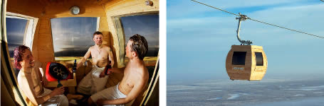 Skylift sauna in Lapland