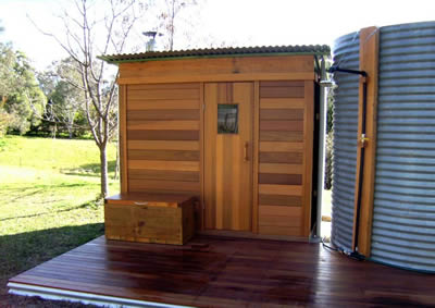 Ukko wood fired sauna 2.5x2m