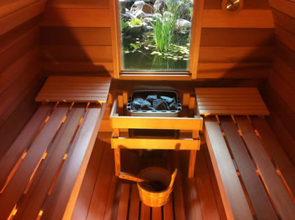 Sauna views from inside