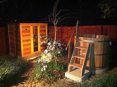 Sauna and tub installed in Wentworth Falls