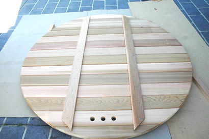 Assembled sauna back wall