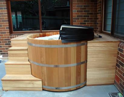 Hot tub installed
