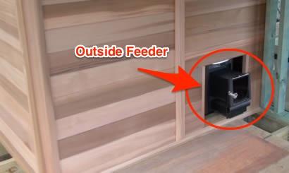 Wood fired feeder
