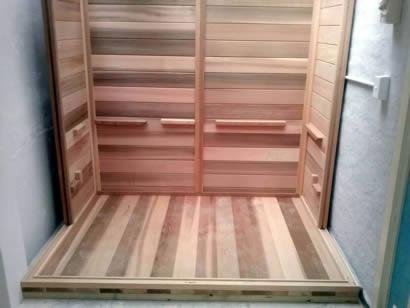 Sauna floor pack