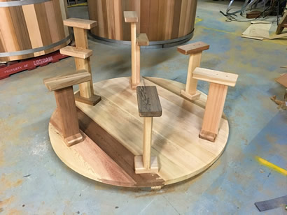 Bench supports and step-down