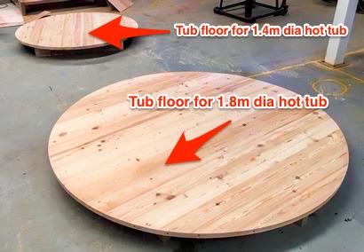 Larch tub floors