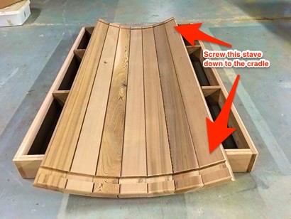 Barrel Sauna base staves