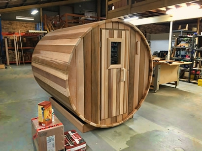Traditional sauna door