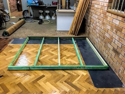 Sauna floor base