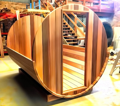 Ukko Barrel sauna assembly