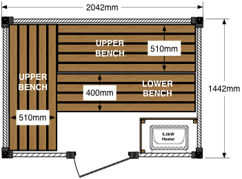 Sauna Floor Plan (Option: A)