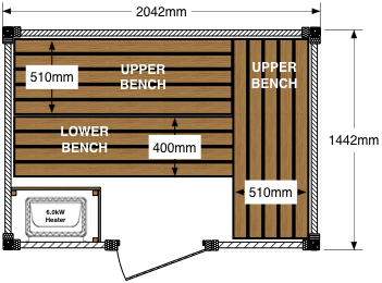 Sauna floor plan (Option: B)