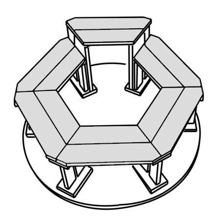Hot Tub Hexagonal benches