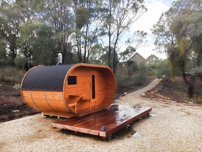 Oval Sauna Assembled