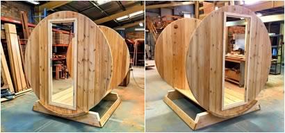 Ukko Barrel Sauna Front and Back Walls