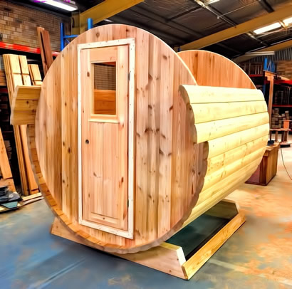 Ukko Barrel Sauna door