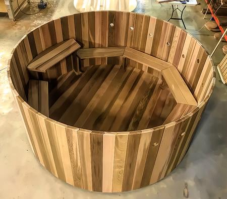 2.6m dia Cedar tub