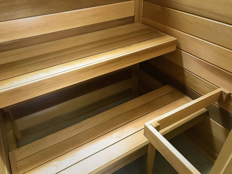 Sauna inside view